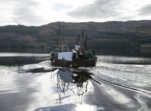 一个渔船 库存照片