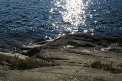一个湖在泰勒马克郡挪威 免版税库存照片