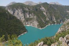 一个湖在黑山 免版税库存图片