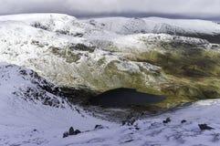 一个湖水地区冬天 免版税库存图片