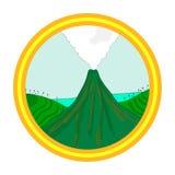 火山风景 皇族释放例证