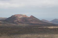 一个火山 库存照片
