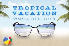 一个热带假期的树荫 免版税库存照片