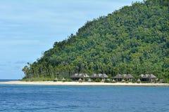 一个热带太平洋海岛的风景在斐济 库存照片