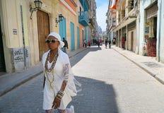 一个热的中午在哈瓦那 库存照片