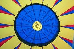 一个热空气气球的中心 库存照片