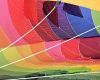 一个热空气气球的里面细节 免版税库存照片