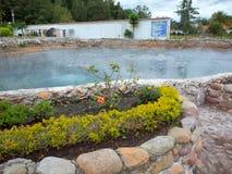 一个热量温泉在派帕村庄  免版税图库摄影