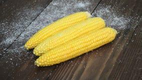 一个煮沸的玉米 库存照片