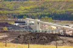 一个燃煤电厂在北加拿大 库存图片
