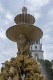 一个片段的背景视图与著名喷泉的马的在萨尔茨堡 免版税库存照片