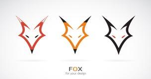 一个狐狸头设计的传染媒介在白色背景的 通配的动物 库存图片