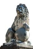 一个狮子雕象在Boboli庭院,佛罗伦萨里 库存图片