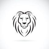 一个狮子头设计的传染媒介在白色背景的 库存图片