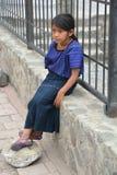 一个玛雅孩子的画象 库存照片