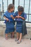 一个玛雅孩子的画象 免版税库存图片