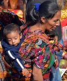 一个玛雅婴孩的画象 免版税图库摄影