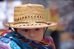 一个玛雅婴孩的画象 图库摄影
