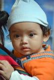 一个玛雅婴孩的画象 库存图片