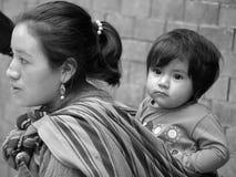一个玛雅婴孩的画象 免版税库存图片