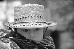 一个玛雅婴孩的画象 库存照片