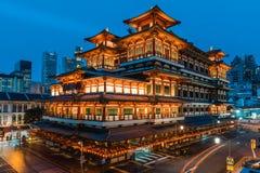 一个现代中国寺庙在大都会 免版税库存照片