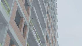 一个现代公寓的门面 公寓的建筑 图库摄影
