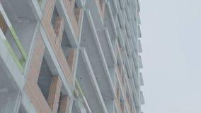 一个现代公寓的门面 公寓的建筑 免版税库存照片