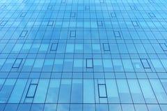 一个现代办公室公司大厦的门面 与玻璃的现代工厂厂房 库存图片