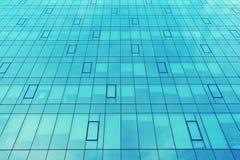 一个现代办公室公司大厦的门面 与玻璃的现代工厂厂房 免版税库存照片