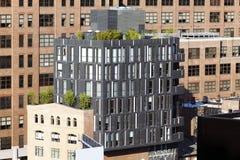 一个现代大厦在城市 库存图片