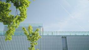 一个现代大厦的上面 库存图片