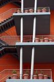 一个现代大厦的详细资料在里斯本 免版税库存照片
