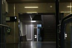一个现代火车站的内部 免版税图库摄影