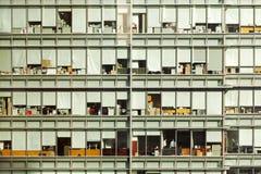 一个现代玻璃大厦和办公室的看法在香港市,中国 免版税图库摄影