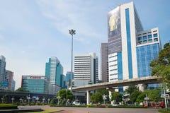 一个现代都市风景在中央曼谷 库存图片
