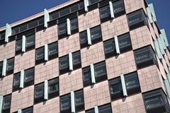 一个现代门面的细节在cetral柏林,德国 免版税库存照片