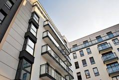 一个现代公寓的门面 免版税图库摄影