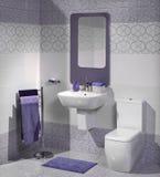 一个现代卫生间的细节有水槽的 库存照片