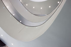 一个现代大厦的内部细节 免版税库存图片