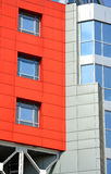 一个现代大厦的抽象门面 免版税库存照片