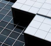 一个现代大厦的抽象建筑学 免版税库存照片