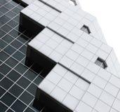 一个现代大厦的抽象建筑学 免版税图库摄影