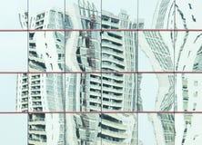 一个现代大厦的抽象建筑学 库存照片