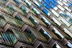 一个现代大厦的抽象建筑学 库存图片