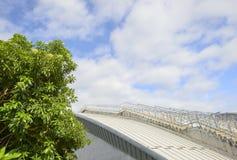 一个现代大厦的现代台阶在城市 免版税库存照片