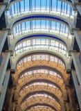 一个现代大厦的玻璃天花板 免版税库存照片