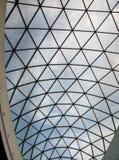 一个现代大厦的玻璃屋顶 库存照片