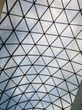 一个现代大厦的玻璃屋顶 免版税库存图片