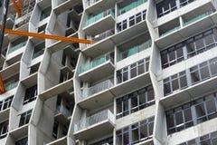 一个现代摩天大楼的建造场所 免版税库存图片